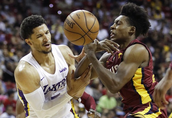 2fc42dbefa6b Collin Sexton (right) of the Cleveland Cavaliers and Josh Hart of the Los  Angeles