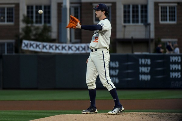 Auburn ace Casey Mize struck out 15 and walked none against Vanderbilt. (Wade Rackley/Auburn Athletics)