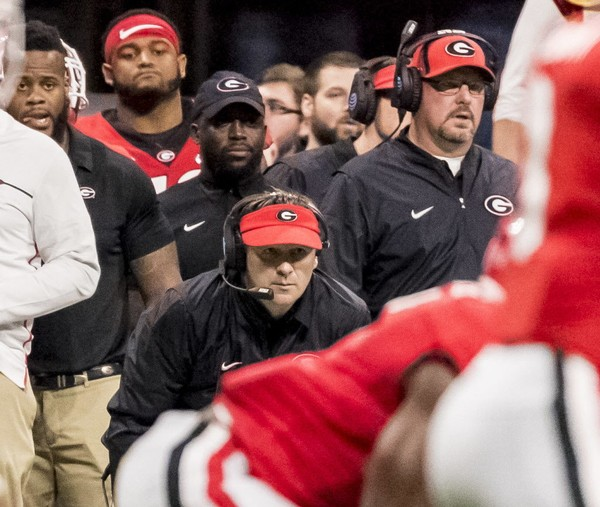 Kirby Smart led Georgia to a 13-2 record, an SEC title and a berth in the College Football Playoff National Championship Game in 2017, his second season. (Vasha Hunt/vhunt@al.com).