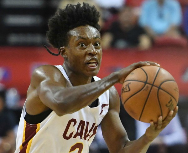 9a1742fc3 Cleveland Cavaliers guard Collin Sexton plays during an MGM Resorts NBA  Summer League game against the