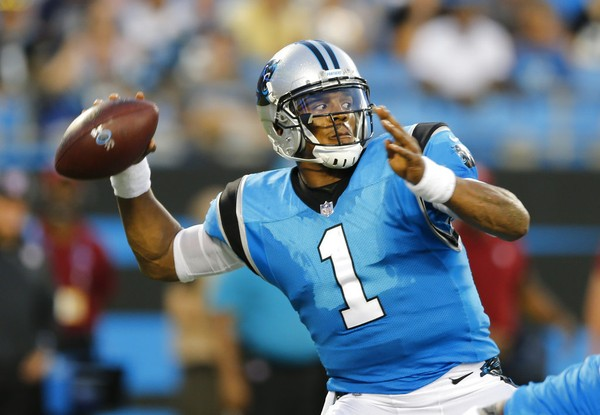 Carolina Panthers quarterback Cam Newton passes during an NFL preseason  game against the Miami Dolphins on c786aeba4