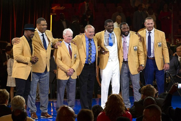 official photos 54c3b 946f9 Watch emotional Robert Brazile receive Hall of Fame gold ...