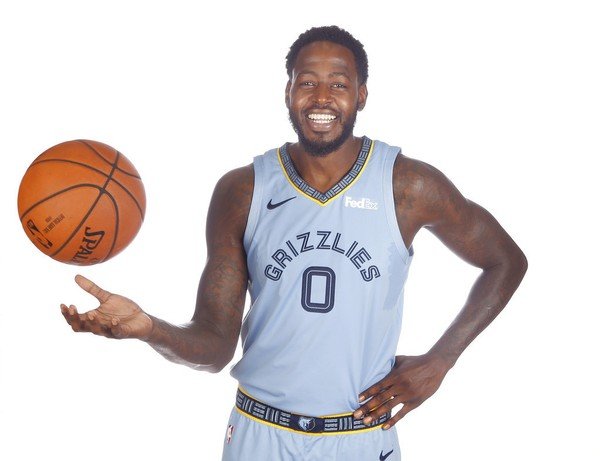 Forward JaMychal Green poses for a photo at the Memphis Grizzlies' media day on Sept. 24, 2018.
