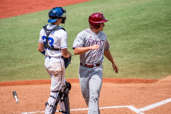 4b0ef449e57 Joey Denison and Troy beat Duke 6-0 in NCAA Regional play Friday in Athens