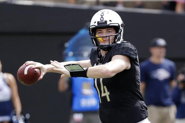 Vanderbilt quarterback Kyle Shurmur passes against Nevada on Sept. 8, 2018, in Nashville, Tenn.