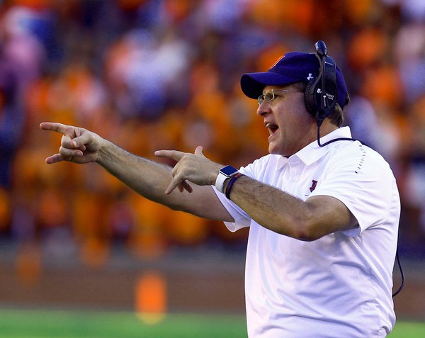 378be148f1719 Auburn head coach Gus Malzahn reacts during the second half against LSU.  Auburn lost to