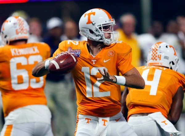 Tennessee quarterback Quentin Dormady will transfer after graduating from the school. (AP photo)
