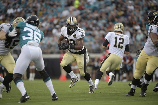 f8b90a9a5a4 New Orleans Saints running back Mark Ingram carries the football during an NFL  preseason game against