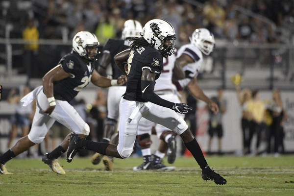 f3a9b90040c6d1 Central Florida defensive back Antwan Collier (3) runs after intercepting a  pass during the