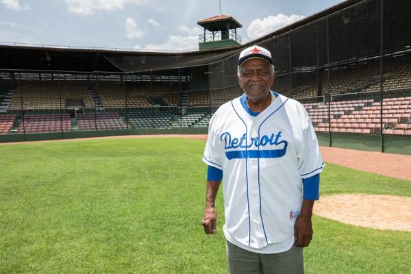 Dick Scruggs is shown at Birmingham's Rickwood Field. (Brian Williams | For AL.com)