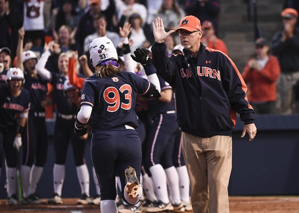 Courtney Shea hit a game-tying two-run home run against Arkansas on Saturday.