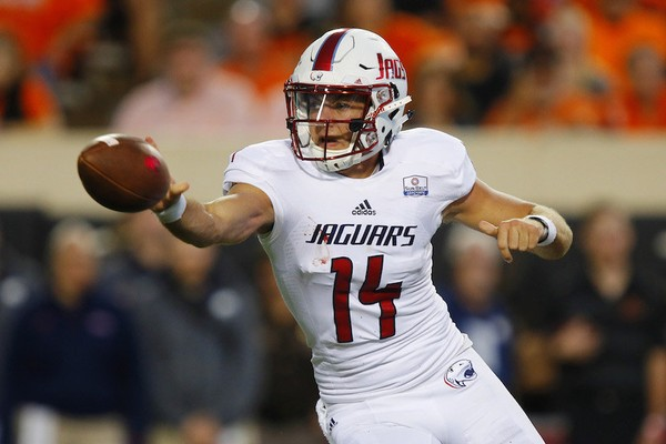 Senior Evan Orth started at quarterback for South Alabama against Oklahoma State. (Photo by Brian Bahr/Getty Images)