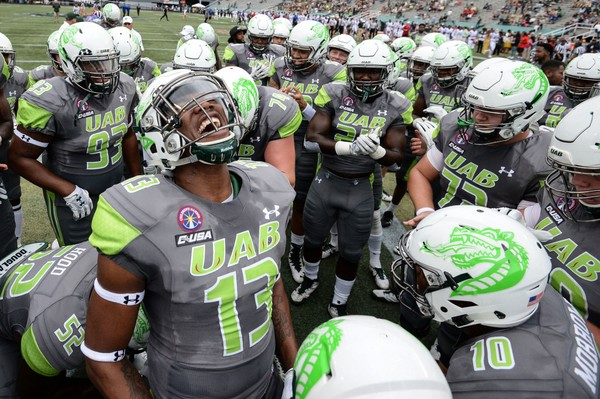 bf0dbc29f3a UAB, wearing special jerseys honoring Children's Harbor patients, stunned  Louisiana Tech. (Photo