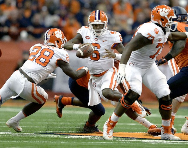 Former Clemson quarterback Zerrick Cooper (6) has signed with Jacksonville State. (AP photo)