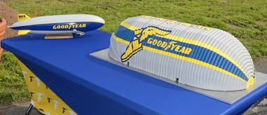 Goodyear's new hangar for Wingfoot Two will be built out of 73 miles of partially translucent polyester fabric ,and will be almost nine-stories tall and longer than a football field.