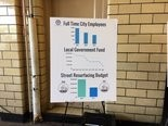 Posters at Akron's Fire Station No. 2 showed why the city wants to increase income tax to 2.5 percent.