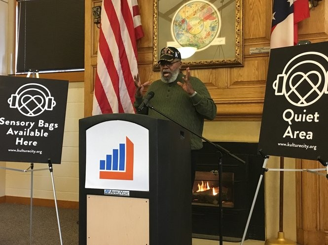 Akron library patron Lawrence Williams is a Vietnam veteran who suffers from PTSD.