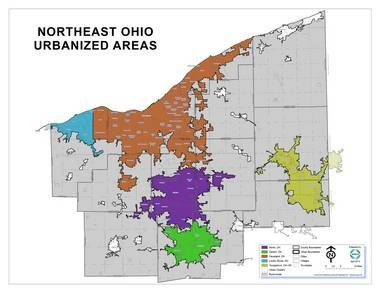 Urbanized areas in Northeast Ohio have sprawled along major highway corridors since the construction of Interstate Highways from the late 1950s to the 1970s.