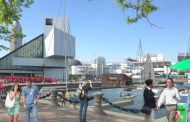 The North Coast Harbor of the future - marina and all.