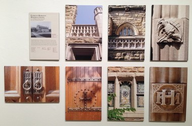The well-designed Schweinfurth exhibition at ARTneo includes a panel on Harkness Chapel at Case Western Reserve University.
