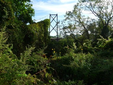 The Sidaway suspension bridge for pedestrians, now smothered in greenery, once connected the St. Hyacinth neighborhood on the north side of Slavic Village to Kinsman Road and Garden Valley on the east side of Kingsbury Run. Opportunity Corridor would bridge Kingsbury, creating an unprecedented connection between those neighborhoods, University Circle and the interstate highway system.