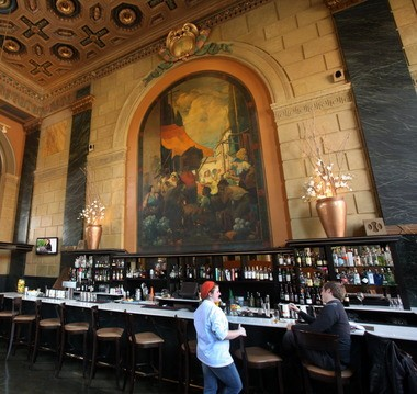 Crop Bistro, located in a former banking lobby on West 25th Street at Lorain Avenue, is part of a culinary revival that has spurred the redevelopment of Ohio City.