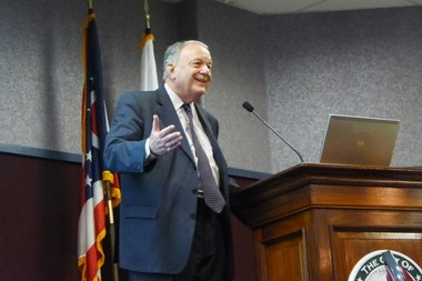 Urbanist and former Albuquerque mayor David Rusk was the keynote speaker at the Building One Ohio Summit in Strongsville on Friday.