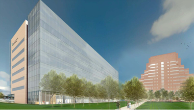 A rendering of the Cleveland Clinic's Cancer Institute, due for completion in 2017.