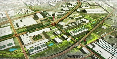 A rendering created by the Kent State University Urban Design Collaborative earlier this year suggested what Opportunity Corridor might look like in the future. Such visions will not be possible without new city plans for the area, accompanied by new zoning and urban design guidelines and review procedures.
