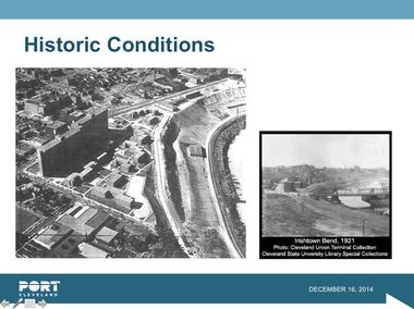 A slide from the Barr & Prevost PowerPoint on Irishtown Bend.