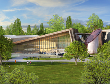 A detail of a Fentress Architects rendering of the proposed expansion and renovation of the Cleveland Museum of Natural History.