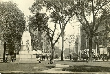 Back in the day: Elm-shaded Public Square in 1885.