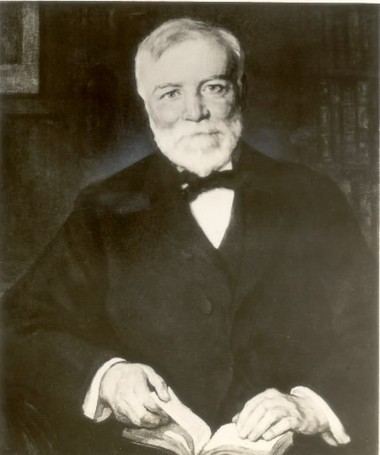 Library lover: Andrew Carnegie donated $40 million to build libraries across America, including the Cleveland Public Library's South Branch.