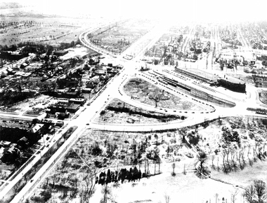 The way it was: An undated 20th century aerial photo of the emerging retail area at the intersection of Van Aken Boulevard and Warrensville Center Road.
