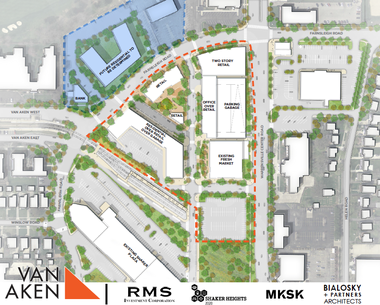 The Phase I plan for the proposed Van Aken project.
