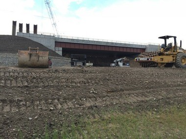 The new underpass below the lakefront railroad lines at West 73rd Street in Detroit Shoreway was under construction Wednesday.