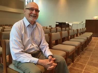 Peter van Dijk during a recent visit to Ursuline College.