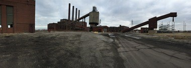 A panorama at the Lake Shore power plant.