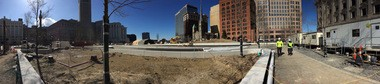 Public Square panorama: The view at ground level on Monday, Feb. 22.