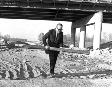 Ohio Gov. James A. Rhodes took road-building into his own hands in 1964 during an inspection of I-71 under construction in Cuyahoga County. The interstate highway system, conceived under President Dwight Eisenhower in the late 1950s, has had consequences for Northeast Ohio that need to be addressed, says Grace Gallucci, director of the Northeast Ohio Areawide Coordinating Agency, NOACA.