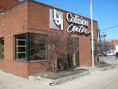 The new LJI Collision Center location is at 1640 Lee Road in Cleveland Heights.