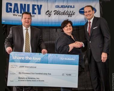 Ganley Subaru East >> Ganley Subaru East Shares The Love With The Jdrf