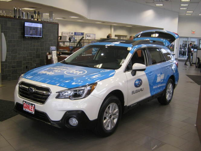 Subaru of America and Ganley Westside Imports donated this 2018 Outback to Westlake Meals on Wheels.