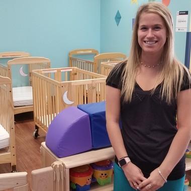 Alissa Tabar, a former Goddard School graduate, is now the infant teacher at Goddard Avon Lake.