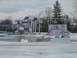 Snow covers the Avon Aquatic Facility now, but it won't be long before water begins flowing again.
