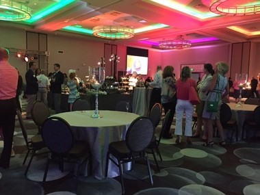 Inside the main group function room at the Emerald Event Center