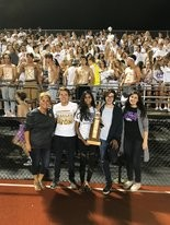 Avon High School Student Council members with the SOUPer Bowl trophy from Community Resource Services (CRS).
