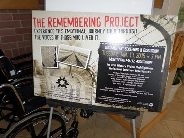 'The Remembering Project', a 33-minute video about the Holocaust, featuring local survivors, will get its debut viewing at 7 p.m. Jan. 13 at Montefiore in Beachwood.