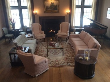 All of the furnishings in this room (except for the piano) in the Lennon House at Beaumont School in Cleveland Heights, came from The Gathering Place Warehouse.