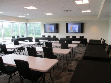 The second-floor emergency operations center.